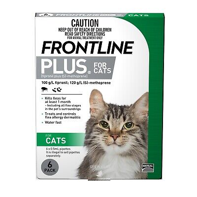 Frontline Plus Flea and Lice Control for Cats 6 Pack