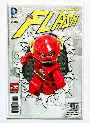 THE FLASH comic #36 : LEGO variant cover