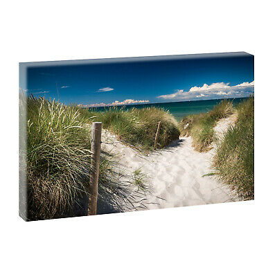 weg zum strand bild strand meer keilrahmen leinwand poster xxl 150 cm 50 cm 544 eur 29 99. Black Bedroom Furniture Sets. Home Design Ideas