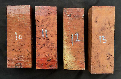 Jarrah burl / burr knife scale / knife handle blocks / carving blocks GRADE A