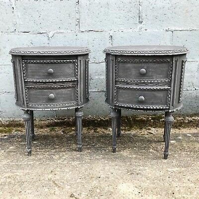 Lovely Matching Pair Of Antique French Bedside Tables, Vintage