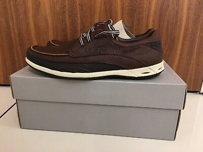 c080207f3a8 MUSTO BY CLARKS Brown Leather Orson Drift Boat Shoes Size UK 6.5 EU 40