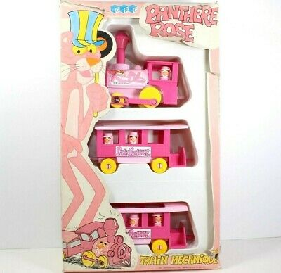 Vintage Pink Panther TRAIN MECANIQUE CRK 1984 Figure Collection Milano Italy