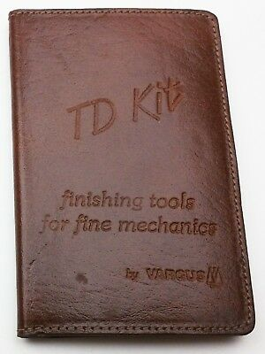 Vintage TD Kit Finishing Tools for Fine Mechanics and Die Makers leather Case