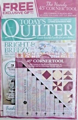 Today's Quilter Magazine #33 - 2018 ~ New Sealed Pack With Free Gift ~