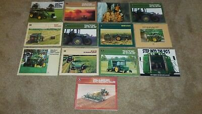John Deere Lot of 13 1980s Brochures / Catalogs Vintage