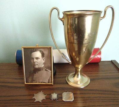 Alabama National Guard Officer's Tiffany Presentation Cup & Personal Items C1900