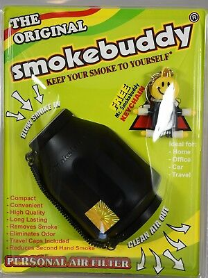 NEW Smoke Buddy Mega Personal Air Purifier Cleaner Filter Removes Odor BlACK