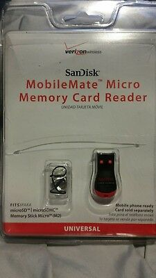 Verizon Wireless Sandisk Mobilemate Micro Memory Card Reader Transfer Files