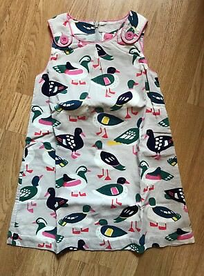 Mini boden duck print cord pinafore dress age 5 6 yrs for Mini boden germany