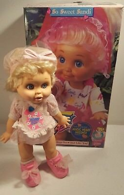 "VTG LGTI 1990 Galoob Baby Face Doll 13"" Tall POSEABLE  #9 Original Outfit & BOX"