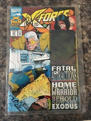 X-Force #25. 1993. Cable Hologram Cover. Signed Greg Capullo With Df Coa
