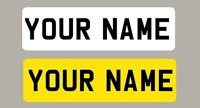 Personalised Children's  Number Plates Stickers For Kids Ride On Car