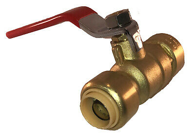 "1/2"" SharkBite Quality Push Fit Full Port Ball Valve, Lead Free Brass, New! (x1)"