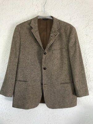 Brooks Brothers Brown Tweed Lambs Wool, 3 Button Blazer 44R