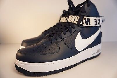 buy popular 2a3ec 25854 Nike Air Force 1 One High Top 07 NBA College Navy Blue and White 315121 414
