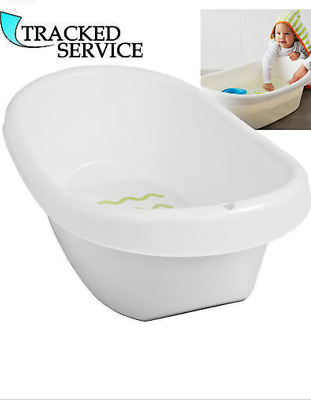 Ikea LÄTTSAM Baby Bath TUB,Stands Steady & Soft anti-slip Protection,White Green