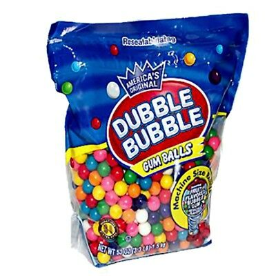 Dubble Bubble Gumballs Machine Size Refills - 3.3 LB Bulk Bag Approx. 680 pieces