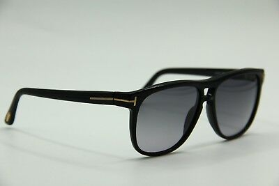 269be4be24 New Tom Ford Tf 288 01N Lennon Black Authentic Sunglasses 55-13 W case