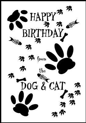 Novelty Happy Birthday Greeting Card From The Dog & Cat - 2 - Own Design