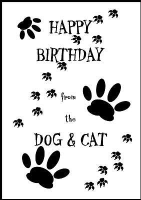 Novelty Happy Birthday Greeting Card From The Dog & Cat - 1 - Own Design