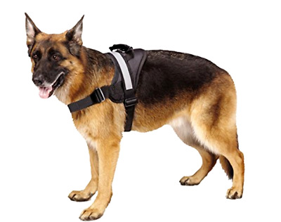 Heavy Duty Soft Reflective No Pull Black Size L 26-36 inch For Big Dog Harness