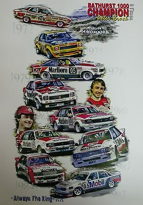 Bathurst 1000 Champion 9 Times Peter Brock A3 Poster Print Picture Image