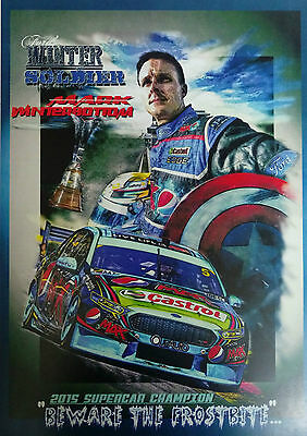 Mark Winterbottom 2015 Supercar Champion A3 Poster Print Picture Image
