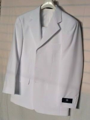 Vittorio St. Angelo Men's Suit Solid Color white Size 38S/32W $99.99 new.