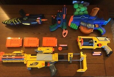 Nerf guns lot sale! Rare Max Force Mad Hornet; Recon CS-6; Maverick REV-6 & More