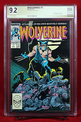 WOLVERINE #1 (1988 Marvel) PGX 9.2 NM- Near Mint Minus signed by STAN LEE!!!