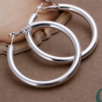 Women's Men's 925 Sterling Silver Small Round Hoop Earrings Huggie Earring Stud