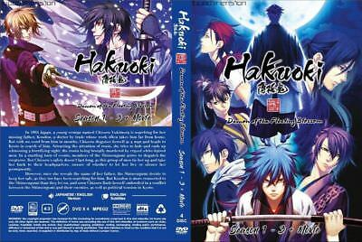 DVD Eng Dubbed Hakuoki Season 1-3 ( Vol 1-34 END) Complete Series + Bonus Anime