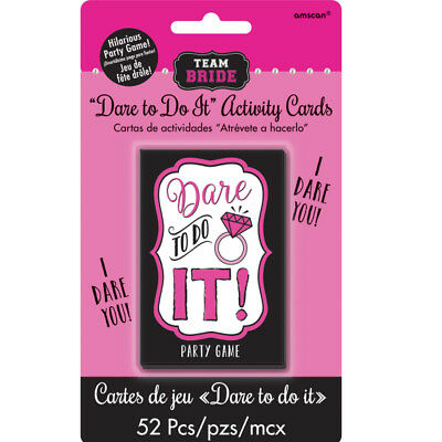 Hen Party Truth or Dare Cards Pack of 52 Girls Night Out Cards Fun Game 9900542