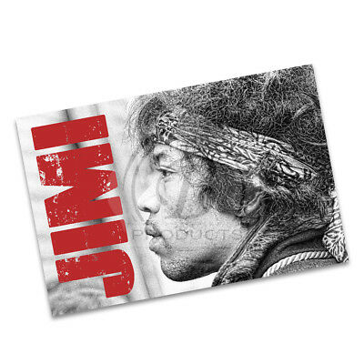 Jimi Hendrix Profile with Head Band Great Guitarist Poster