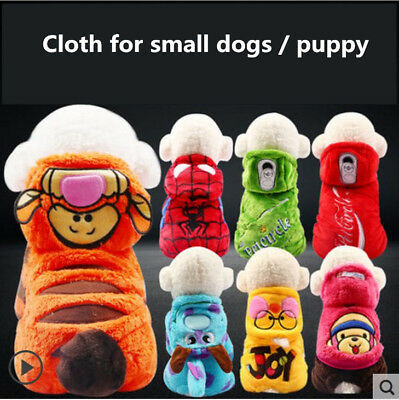 Superhero Costumes Hoodie Jacket Dog Puppy Clothes Poodle Terrier Beagle