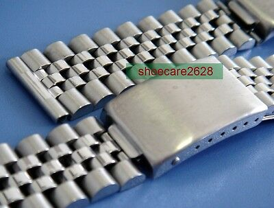 20mm Jubilee Straight End Solid Steel Replacement Bracelet For Vintage Watches