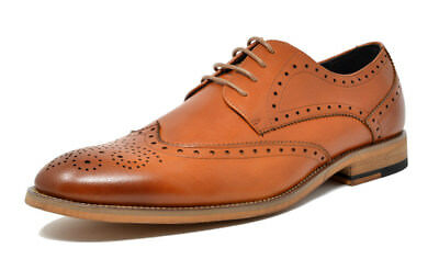 Bruno Marc Men's Waltz Italian Genuine Leather Collection Dress Oxfords Shoes