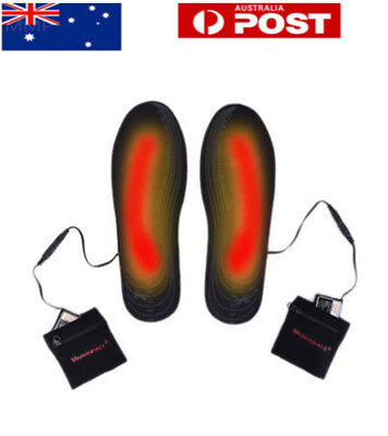 AU Outdoor USB Electric Powered Heated Winter Insoles For Shoes Keep Feet Warm