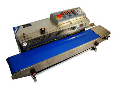 CONTINUOUS SEALER WITH CONVEYOR AND STAMPING MACHINE FRBM 810 I s/s