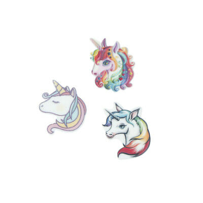 10pcs Flat Back Resin Cabochon Resin Unicorn DIY Decor Craft Embellishment YA