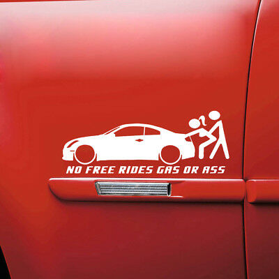 No Free Rides Gas Or Ass Funny Car Window Sticker Waterproof Auto Exterior Decal