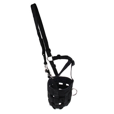 Horse Pony Nylon Grazing Muzzle with Halter Under Chin Adjustable All Size