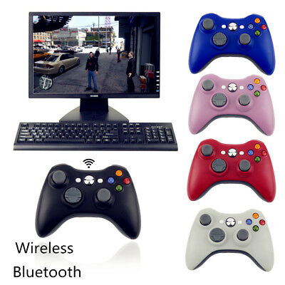 Wireless Bluetooth Game Controller +Receiver Adapter For Microsoft  Xbox 360 PC