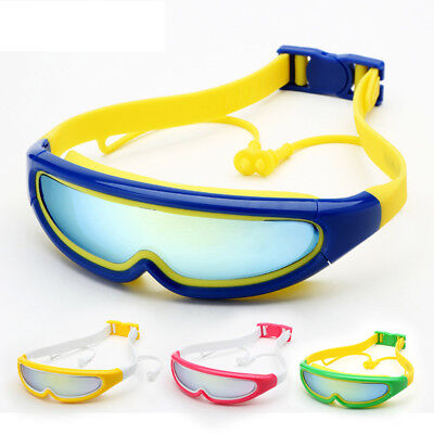 Adjustable Boy Girl Swimming Goggles Anti-Fog Earplugs Glasses Eyewear Alluring