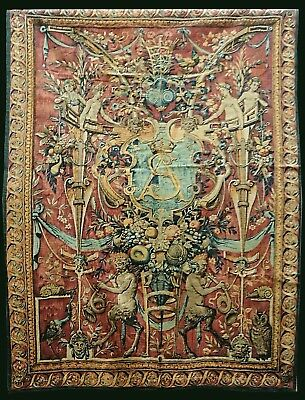 "Arazzo Made in France - tessuto a mano - ""Grotesque Sigismond"" 190x145 Tapestry"