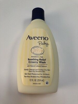 1 AVEENO Baby Fragrance Free Soothing Relief Creamy Wash 12 oz