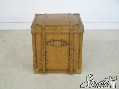 29160:  MAITLAND SMITH Leather Wrapped Square Trunk Or Chest