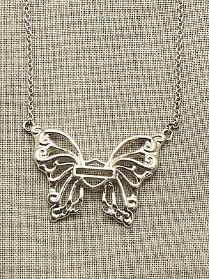 be8ec07c5 Genuine Mod Jewelry Harley Davidson Butterfly Necklace Sterling Silver 9-3