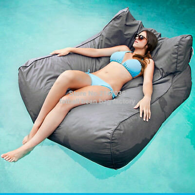 Oversized luxury comfortable two adults float bean bag pool Party floating Sofa
